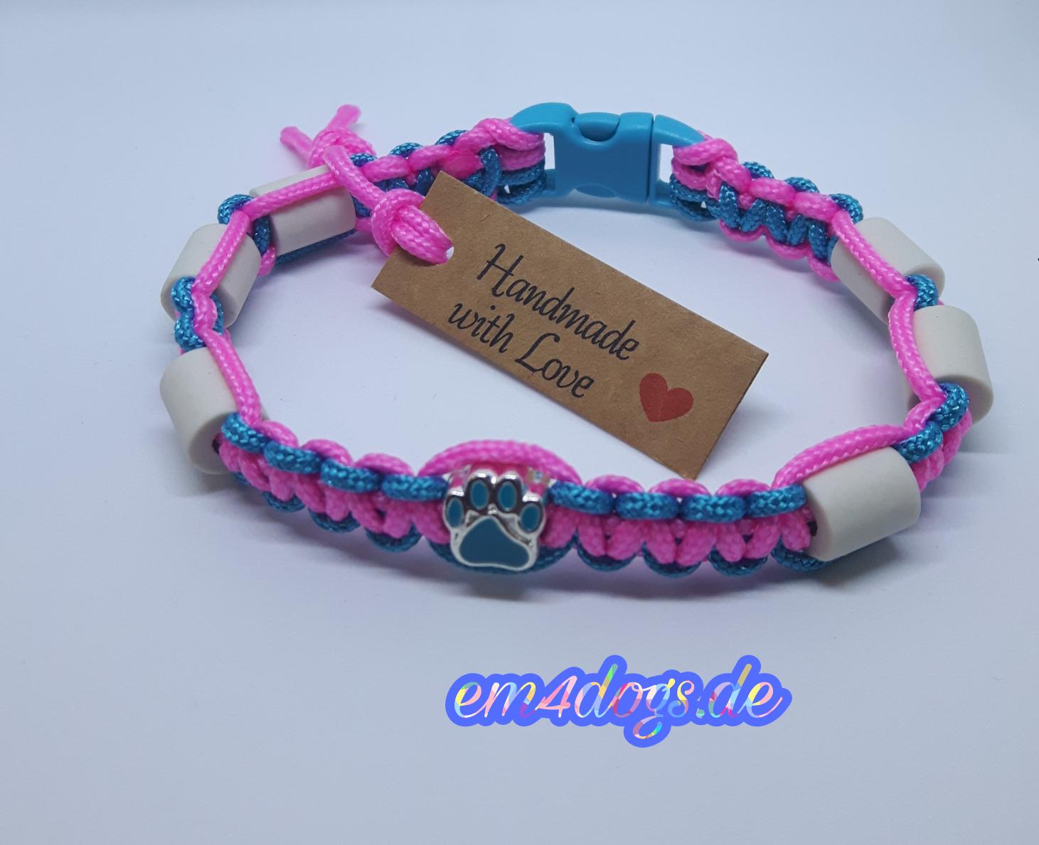 em4dogs.de EM-Keramik Hundehalsband türkis pink