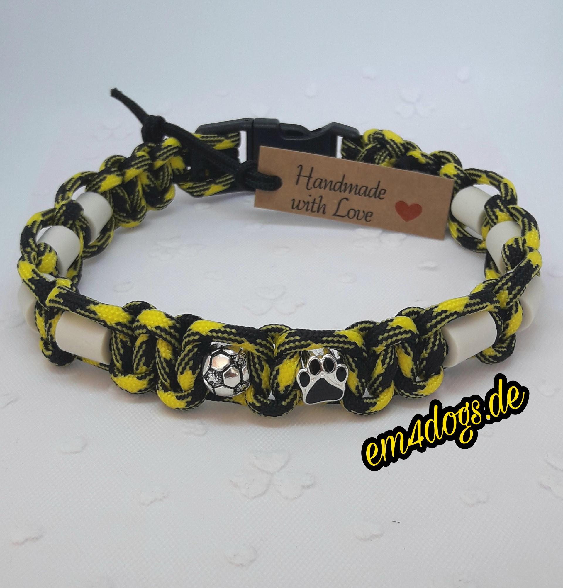 em4dogs.de EM-Keramik Hundehalsband gelb schwarz