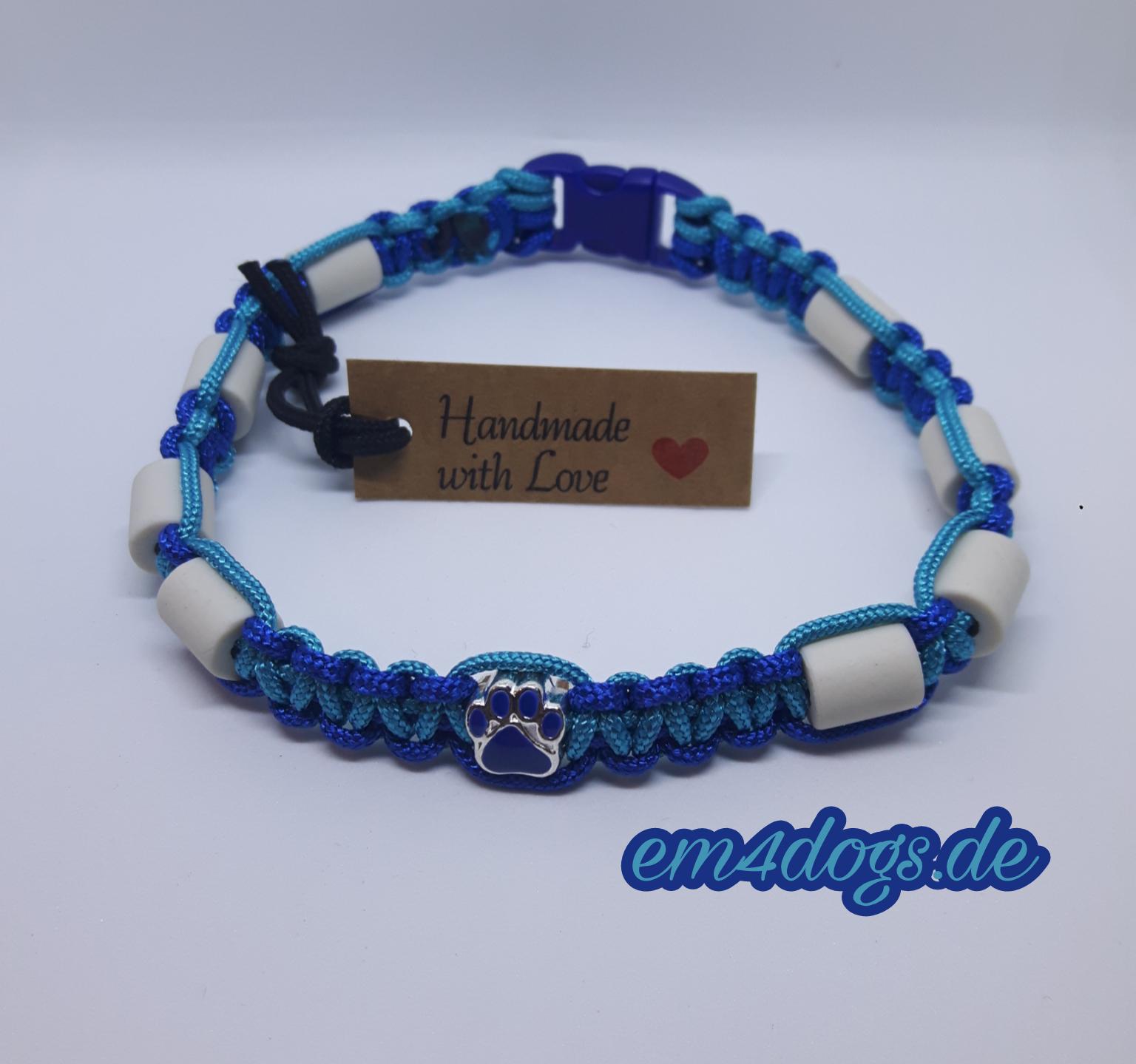 em4dogs.de EM-Keramik Hundehalsband dunkelblau türkis