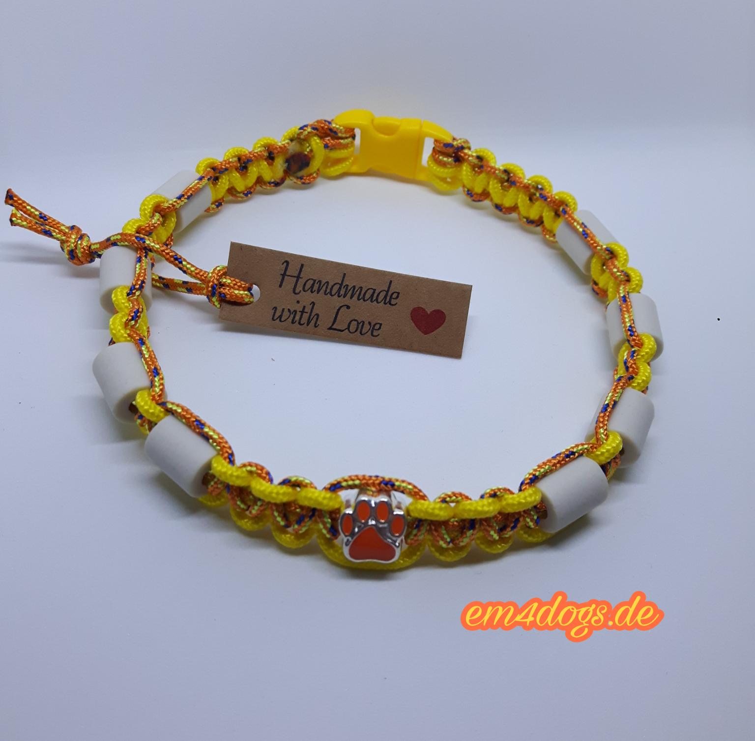 em4dogs.de EM-Keramik Hundehalsband gelb orange