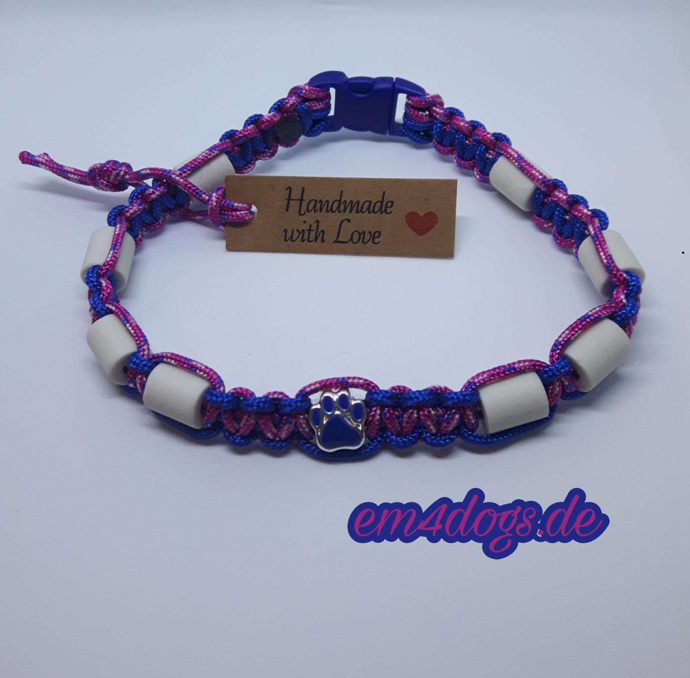 em4dogs.de EM-Keramik Hundehalsband blau fuchsia