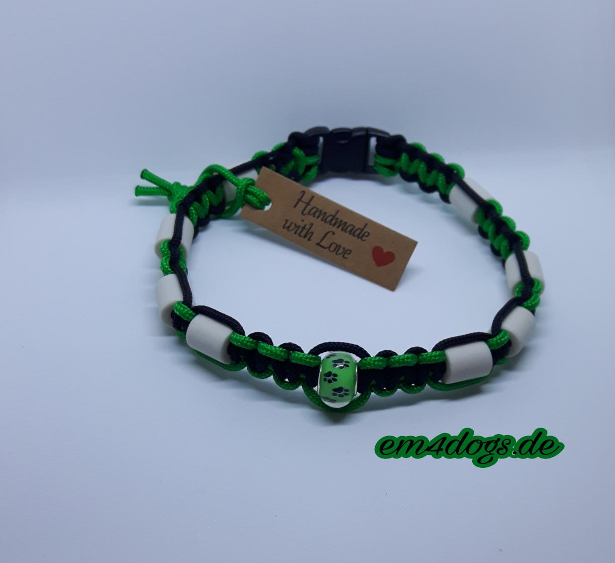 em4dogs.de EM-Keramik Hundehalsband grün schwarz