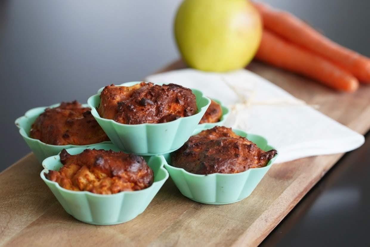 Möhren-Apfelmus-Muffins | fruchtig, saftig & gesund