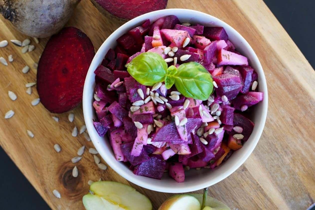Rote-Bete-Apfel-Salat | clean, vegetarisch & schnell zubereitet