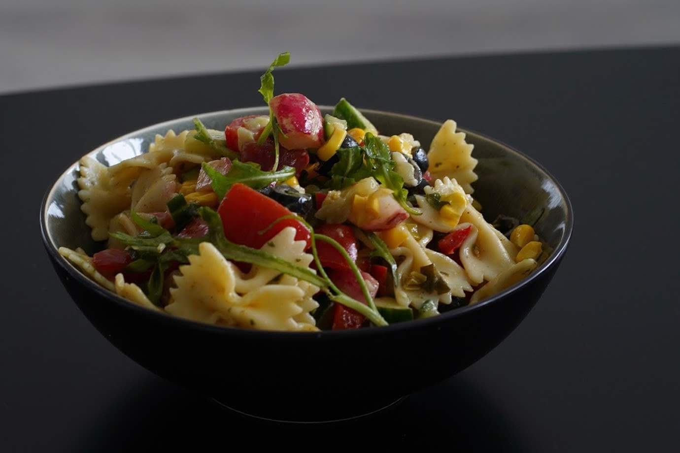Veganer Nudelsalat | schnell zubereitet