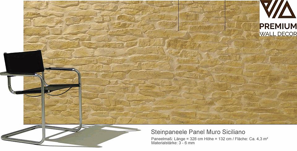 Steinpaneele Lajas Stoneslikestones - Panel Muro Siciliano