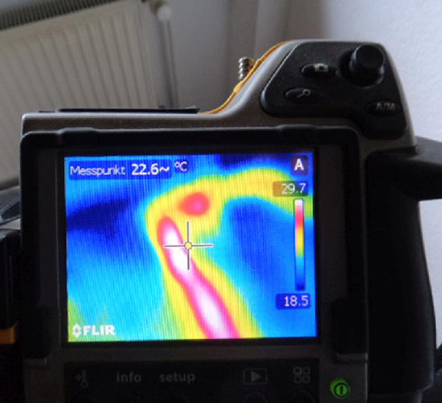Infrarotkamera Wärmebild Leckageortung