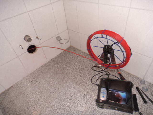 Rohrkamera Rohrbefahrung Rohruntersuchung mit Kamera