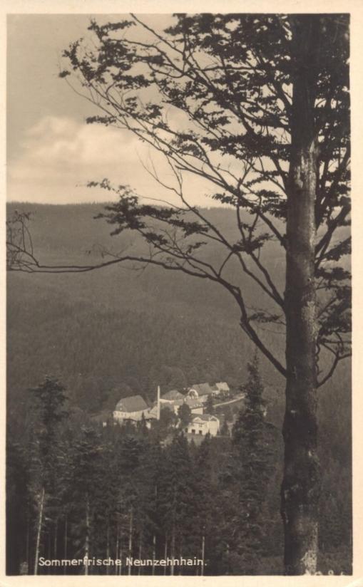 Wünschendorf Erzgebirge Blick auf Neunzehnhain 1930