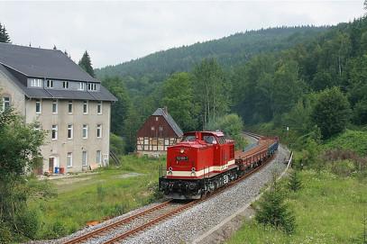 Bild: Teichler Wünschendorf Erzgebirge Flöhatalbahn