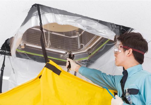 ダスキンのエアコンクリーニング(事業用天井埋め込みタイプ)
