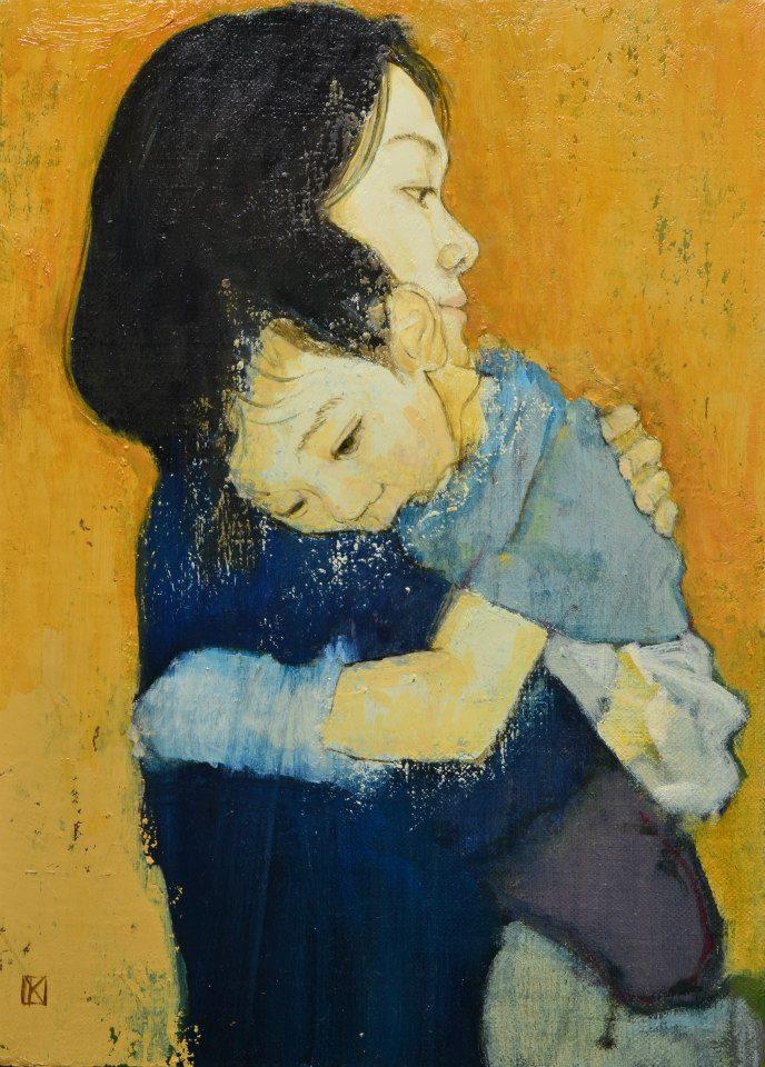 「 ダキシメルオモイ 13.3.2011」 F4号キャンバス・油彩・2011年