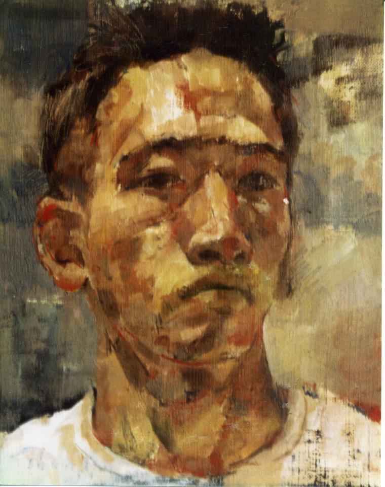 自画像 SM・キャンバス・油彩・1993年
