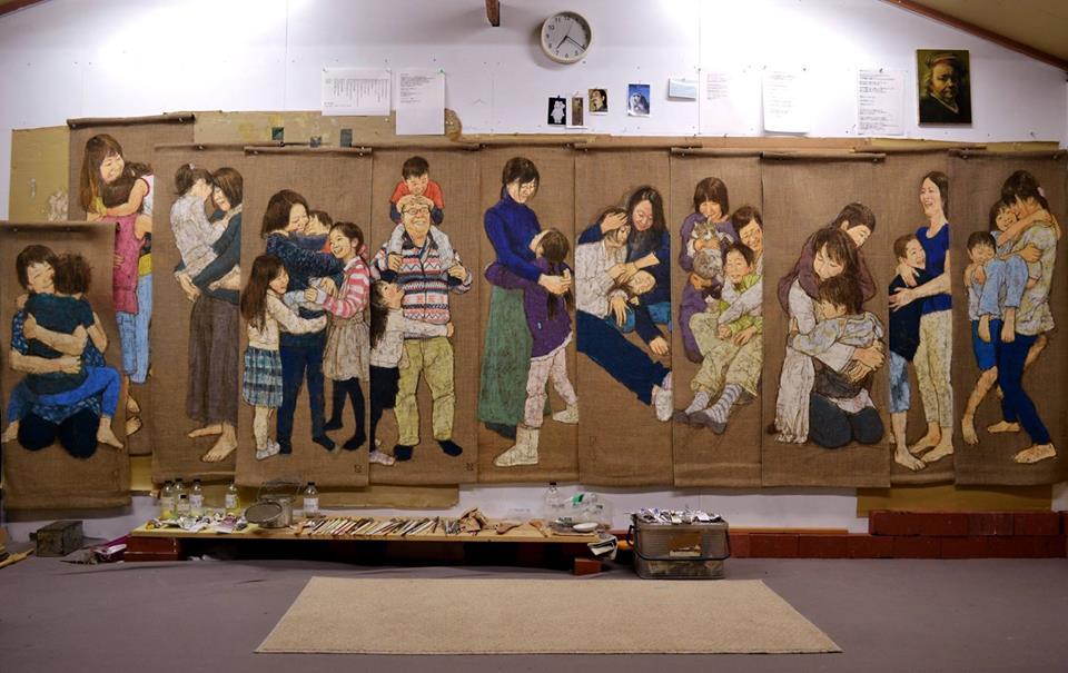 自主避難された家族のダキシメルオモイ (愛知県田原市アトリエ) 2015年