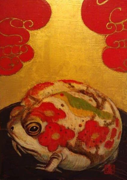 「 咲蛙(さきがえる)」 SM・キャンバス・アクリル・2003年