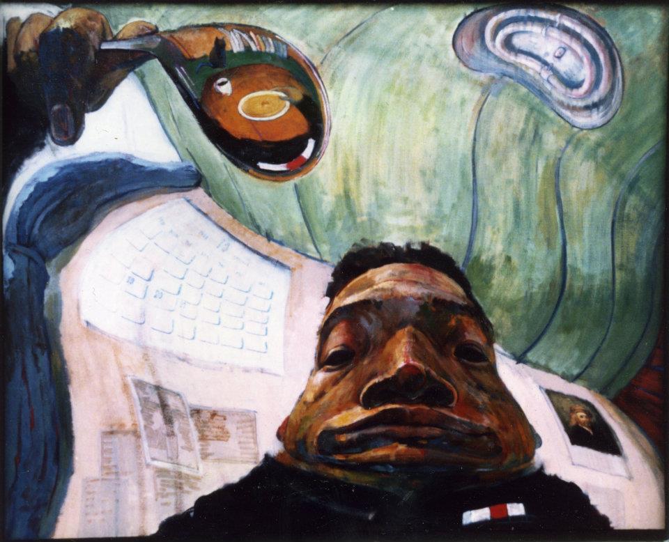 「朝食のスープ」 F100号キャンバス・油彩・2000年・卒業制作