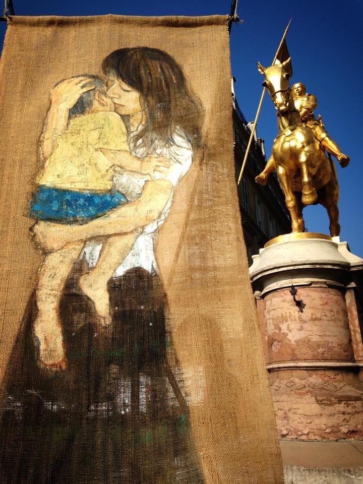 ジャンヌダルクの像 (フランス・パリ ) 2014年