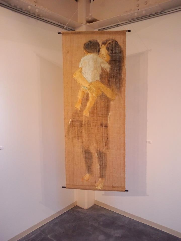 「 ダキシメルオモイ 」 1450×550 麻布・油彩・2009年