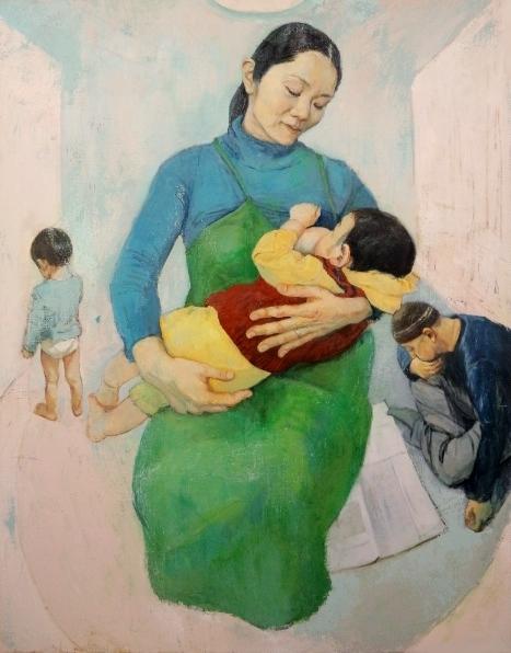「 家族の風景 」 F50号キャンバス・油彩・2012年