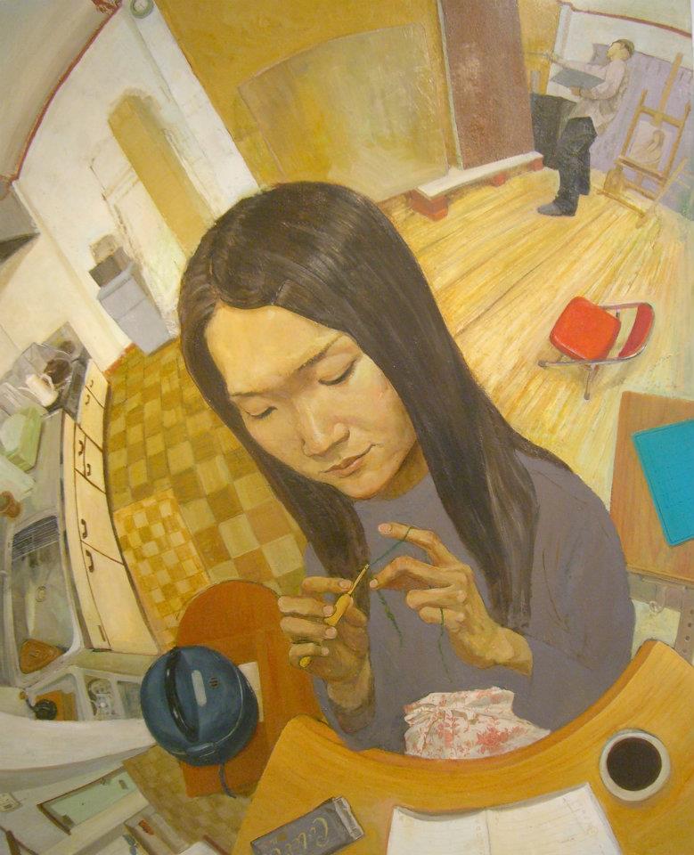 「 シンプルライフ 」 F100号キャンバス・油彩・2005年