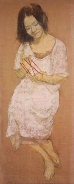 「 あやとり」 1450×550 麻布・油彩・2006年