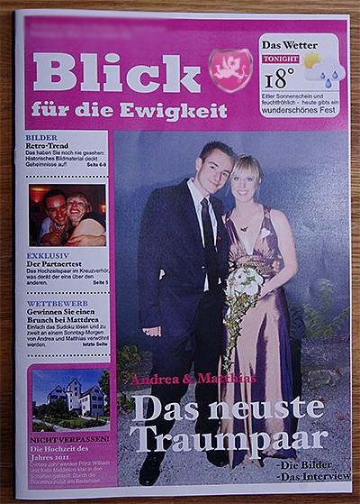 Hochzeitszeitung, Hochzeitsblick