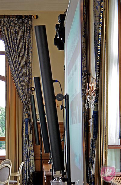 Fohhn LX 150 Säulen im Hotel Trois Rois in Basel