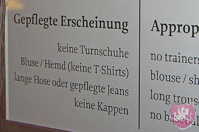 Kleiderordnung Knigge