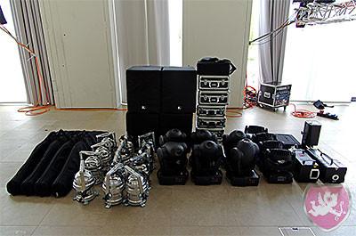 Equipment für eine Hochzeit