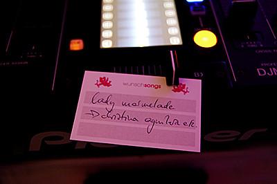 Wünsche an den DJ
