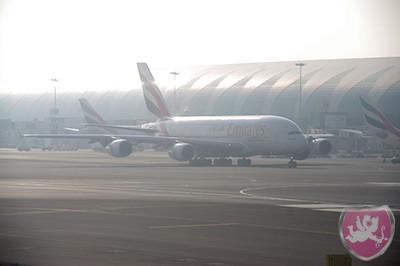 Emirates A380, Dubai
