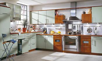mit Microlack lackierte Küchenfront