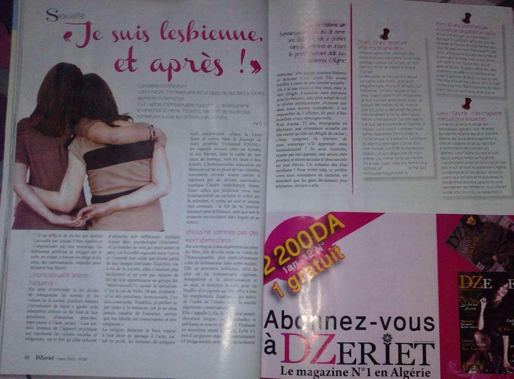 Le Dossier qui traite les lesbiennes en Algérie