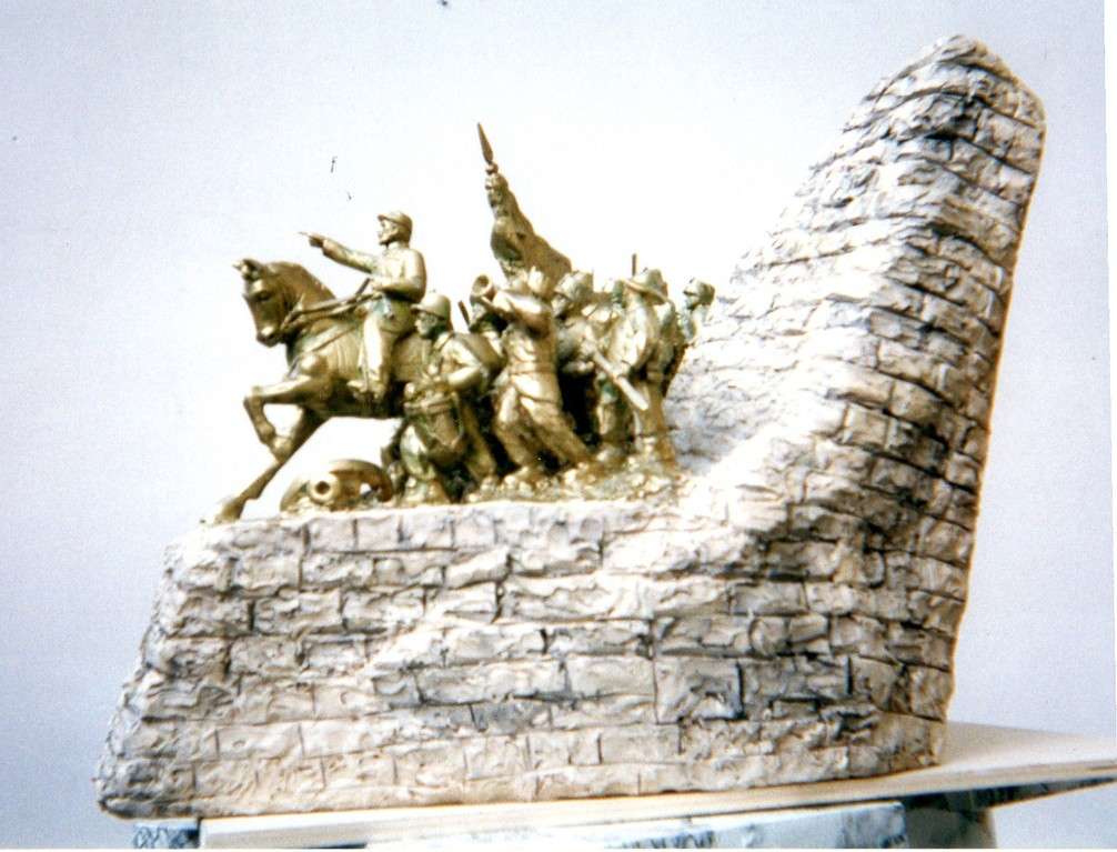 Battaglia di Castelfidardo, miniatura in resina, Museo di Windang (Australia) 1998