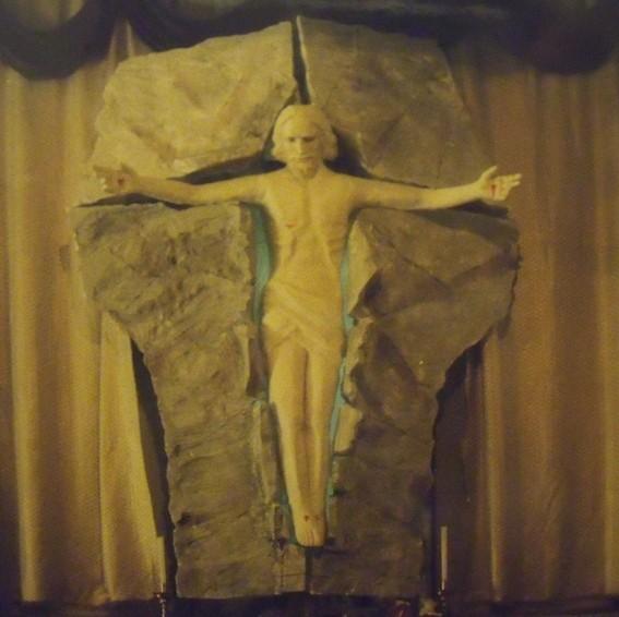 Resurrezione, polistirolo e gesso, Parrocchia S.Flaviano Villa Musone, 2005