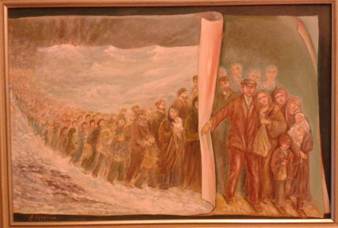 Esodo (68x100) acrilici, 1999