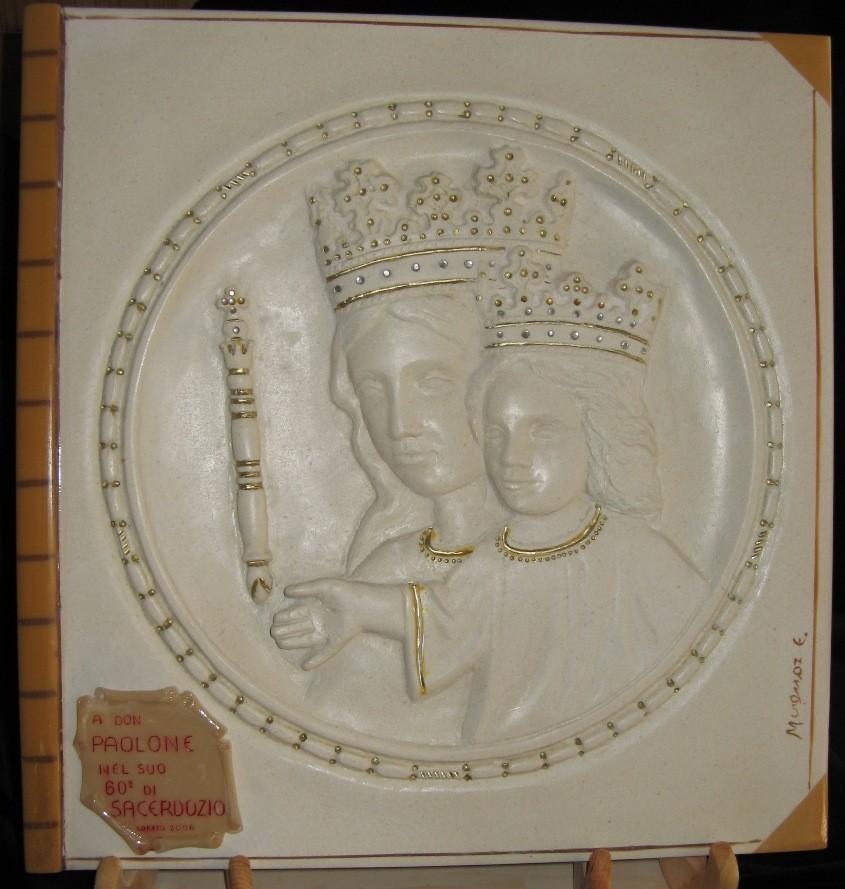 Madonna con Bambino, pietra calcarea spagnola