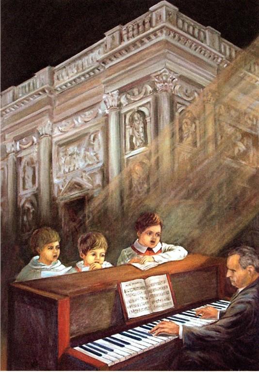 Adamo Volpi e piccoli cantori. Omaggio al grande organista