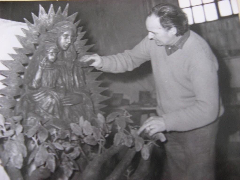 Lavoro per il gruppo bronzeo Madonna dell'Ambro