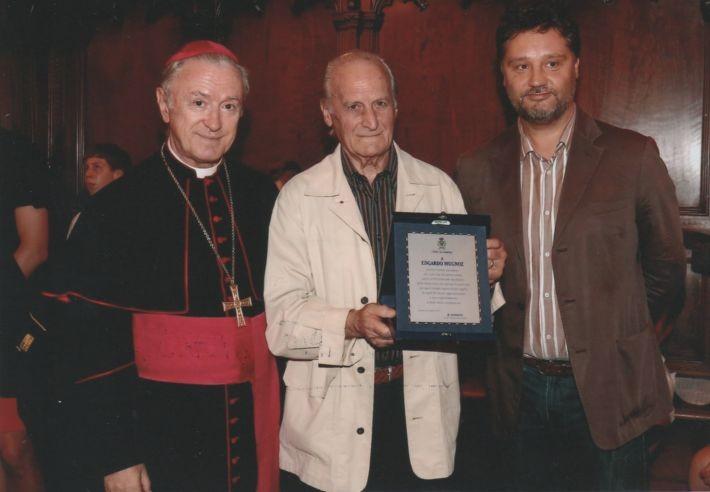 Edgardo tra Mons. Giovanni Tonucci e il Sindaco