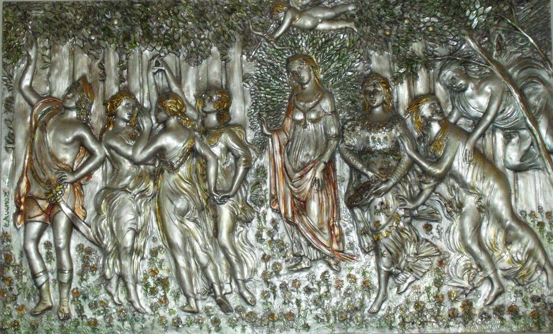 La Primavera (Botticelli), argento