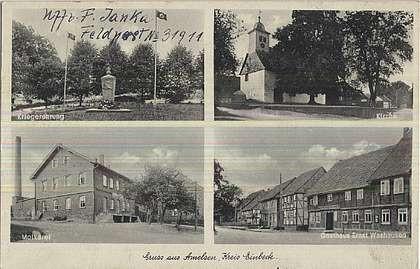 Rarität - Amelser Postkarte anno 1939
