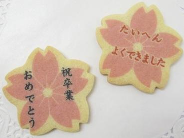 プリントクッキー大 お花×2枚