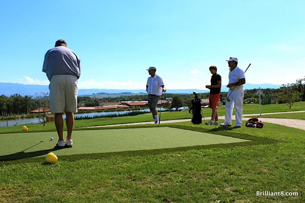 Teeabschlag Loch 9 Golfclub Franciacorta / I