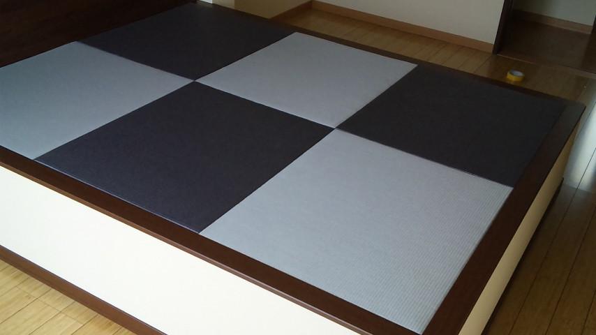 15ミリ薄畳セキスイ美草目積グレー/ブルーバイオレット