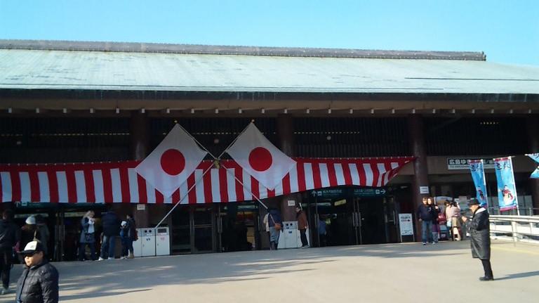 フェリーターミナル。厳島神社到着。