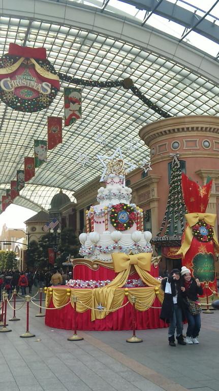 大きなクリスマスケーキ