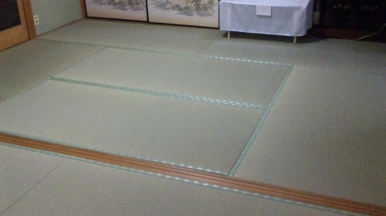 床の間6畳、こちらも敷居部分高さ調整・・・・