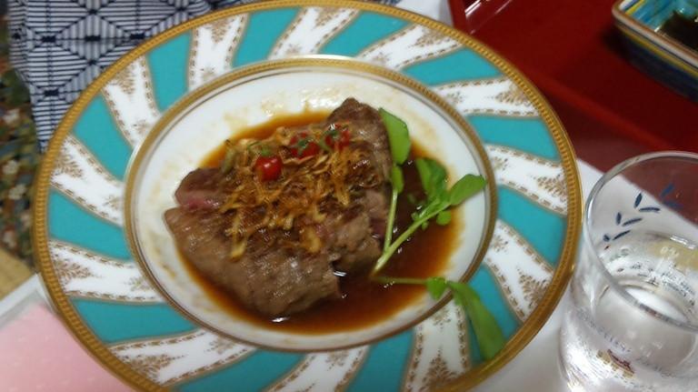 薩摩黒牛のステーキ