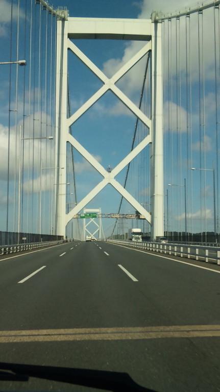 関門橋を通過中・・・・